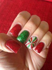 60 Weihnachtsnägel bieten Ihnen einen besonderen Blick auf das Festival   – Nail art designs