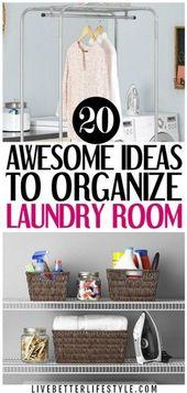 20 Genius Laundry Room Organization Ideas