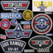 Top Gun Badge ID  Maverick Fancy Dress 80s 90s Halloween  Stag Party Prop