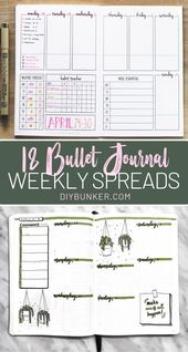 18 Bullet Journal Weekly Spread Layout Ideas