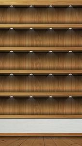 木製のシェルフ   スマホ壁紙/iPhone待受画像ギャラリー – Iphone 用壁紙