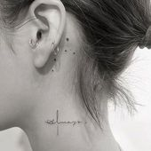 Cute Neck Tattoo Ideas For Girls
