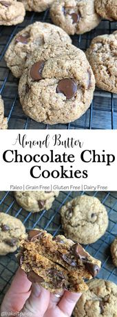 Paleo Almond Butter Chocolate Chip Cookies  #grainfreecookie #paleocookie #dairy…