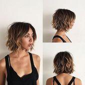 Frisuren für den Schulvorhang knallen kurzes Haar, unordentliche kurze Wellenknalle   – bobfrisuren kurz