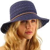 Cc everyday lace cloche summer derby beach pool bucket crushable sun hat – Products