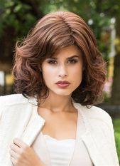 Natural Wavy Look Synthetic Hair Bob Style Wigs