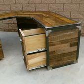 Best Selling Industrial Design Desk w/ Reclaimed Wood