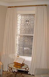 Luxury Silk Curtain on a Decorative Pole