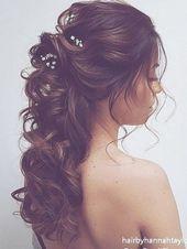 long half up half down wedding hairstyle from hairbyhannahtaylor #wedding #weddings #weddingideas #deerpearlflowers #dpf