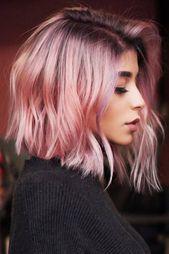 30 entzückende Ideen, wie man pastellrosa Haare abschält