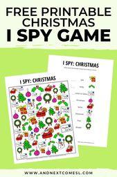 Weihnachtskritzeleien I Spy Game {Free Printable for Kids} – Christmas kindergarten