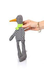 Schwarze Leine Puppe kleine Ente Vogel Plüschtier weiche Puppe Geschlecht neutral   – Baby