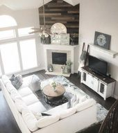 41 Rustic Modern Farmhouse Living Room Decorating Ideas