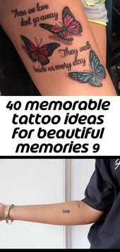 40 memorable tattoo ideas for beautiful memories 9