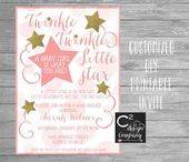 Baby Showers Twinkle Twinkle Twinkle Little Star- A Baby Girl Is What You Are! Baby Shower Invitation...