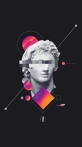 "Get it from ""Vaporwave Wallpaper"" on – #aesthetic #laptop #desing #Academic…"