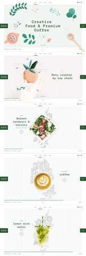 Voedsel infografía – een groep  – Web und App Design