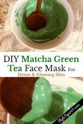 DIY matcha green tea face mask #FaceMaskForPores