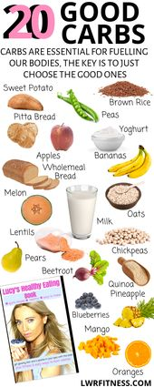 HEALTHY FOODS -20 GOOD CARBS - THAT HELP WITH HEALTHY WEIGHT LOSS AND GIVE YOU ENERGY 1