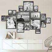Photo of Set of 17 modern black MDF frames 10 × 15 to 30 × 40 cm / Image gallery …