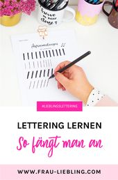 Lettering lernen – so fängt man an