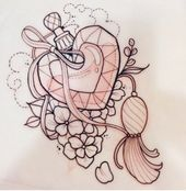 Super tattoo old school love heart tat ideas – Zeichnung