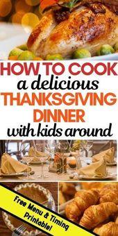 Wie man Thanksgiving-Abendessen mit Kindern zu Füßen kocht (ohne den Verstand zu verlieren!) – Mein druckbares Menü und Zeitplan   – Dubai