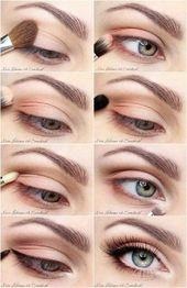 Pastell Eyeshadow Makeup Tutorial – 12 Einfache Makeup, Makeup Look Tutorials | Gl …   – learning
