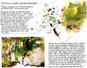 Claudia Schöne Landschafts-Demo in Aquarell und Tusche