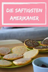Fluffige und saftige Amerikaner – Das beste Rezept! – Kuchen, Cookies, Muffins und noch mehr Süßes!