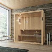 Badezimmer Sauna Mit Glasfront F Rs Badezimmer Tanne X Bad - Sauna furs badezimmer