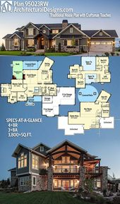 Plan 95023RW: Traditional House Plan with Craftsman Touches