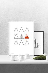 Weihnachtsgrafik Santa im Dreieckswald Download zeitlos. in. form. CULTFORM