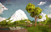 Niedriger Poly-Orangenbaum auf Behance   – Inspiring ART