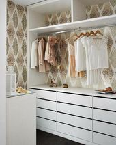 create a dressing room, elegant wardrobe