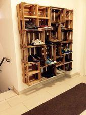 DIY Weinkisten Schuhe Schrank,  #DIY #Schrank #SchuhSchrankdiy #Schuhe #Weinkisten,  #DIY #Sc…