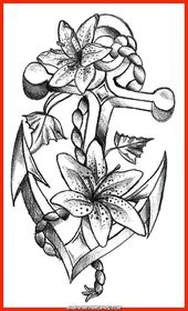 Atemberaubende Oberschenkel Anker Frauen Tattoo modische Ideen