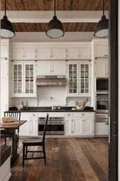 120 Modern Rustic Farmhouse Kitchen Decor Ideas 91