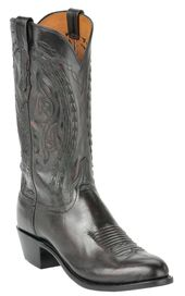 Lucchese 1883 Men S Black Cherry Buffalo Calf R Toe Western Boot Boots Western Boots Fashion Cowboy Boots