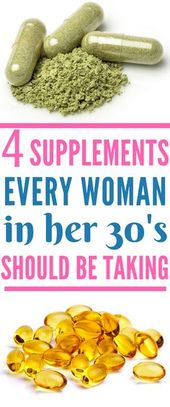 The Best Supplements For Women In Their 30's 1
