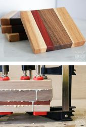 DIY scrap wood coasters are a great gift this holiday season. DIY …