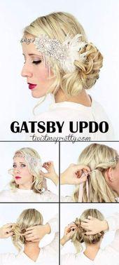 DIY halb nach oben halb nach unten Frisuren #Diyhairstyles - #diyhairstyles #hairstyles - #new