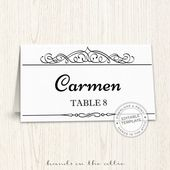 Instant Download  Editable Printable Place Cards Template