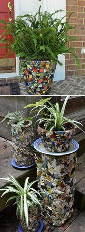 Decoraciones de mosaico simples hechas a mano para su jardín – Birsen   – Dekoration