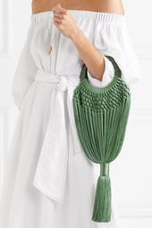 Cult Gaia | Angelou small tasseled crochet and resin clutch | NET-A-PORTER.COM