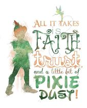 "Peter Pan ""Religion, Belief, and Pixie Mud"" 8×10 Printable Poster – DIGITAL / Instantaneous Obtain / Tinker"