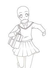 Anime Sketch School Uniform Animemanga Animefanart Animelovers Drawing Base Drawing Anime Bodies Anime Poses Reference