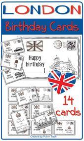 London ✰ BIRTHDAY CARDS ✰