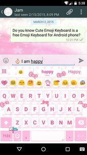 Pink Knot Emoji Keyboard Theme For Cute Emoji Keyboard Emoji Keyboard Com Emoji Keyboard Cute Emoji Keyboard Free Emoji