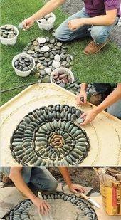 Wie man ein Mosaik aus Steinen macht